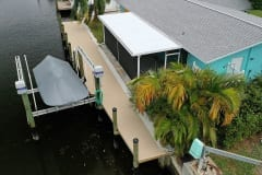 New Dock with Boat Lift in Southwest Florida