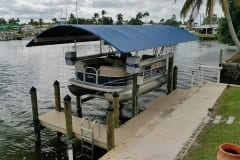 New Dock with Boat Lift and Canopy in SW Florida