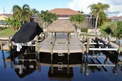 Dock with Double Boat Lifts