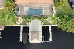 Boat Dock with Boat Lift and Jet Ski Lift