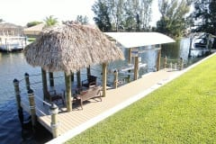Dock with Tiki, Canopy, and Boat Lift