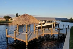 Dock with Tiki and Boat Lift