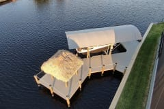 New Dock with Boat Lift, Tiki, and Canopy in Southwest Florida