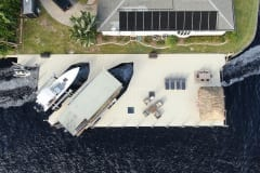 Dock with Dual Boat Lifts and Tiki