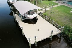 Dock with Boat Lift and Canopy