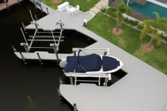 New Dock with Dual Boat Lifts