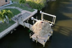 Dock with Boat Lift and Tiki