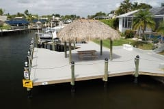 Dock with Boat Lift and Tiki Hut