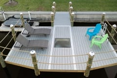 New Dock with Viewing Glass and Seating Area