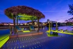 Lighted Dock and Tiki