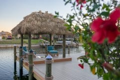Dock with Tiki and Seating Area