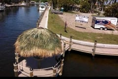 New Construction Dock with Tiki Hut