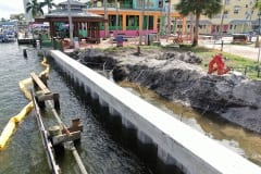 new seawall construction
