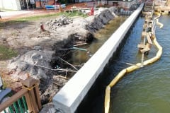 seawall construction in progress