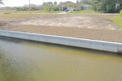 completed new construction seawall