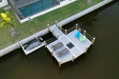 new dock, boatlift, and seawall in south florida